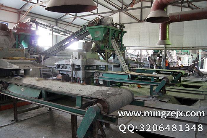 白山粉煤灰制砖机生产线
